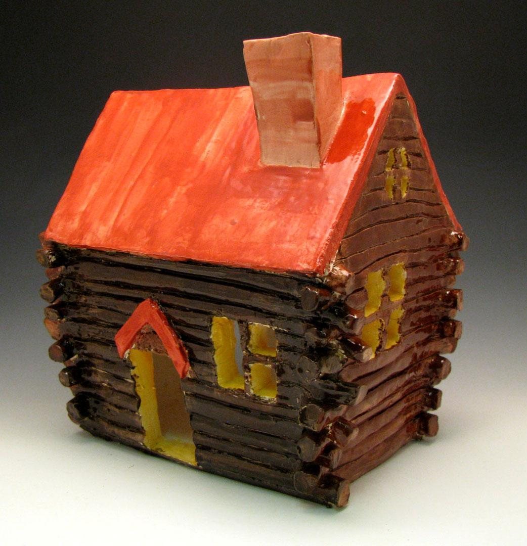 ceramic log house