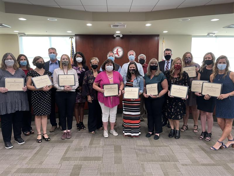 Teachers of the Year honored at Governing Board meeting