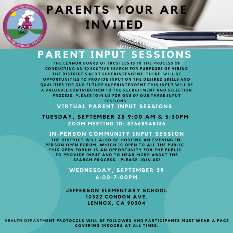 Flyer for Input session english