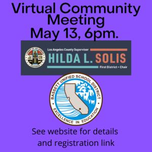 community Meeting info