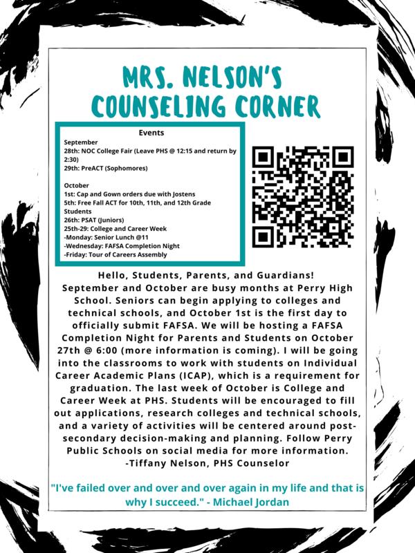 HS Counselor Newsletter