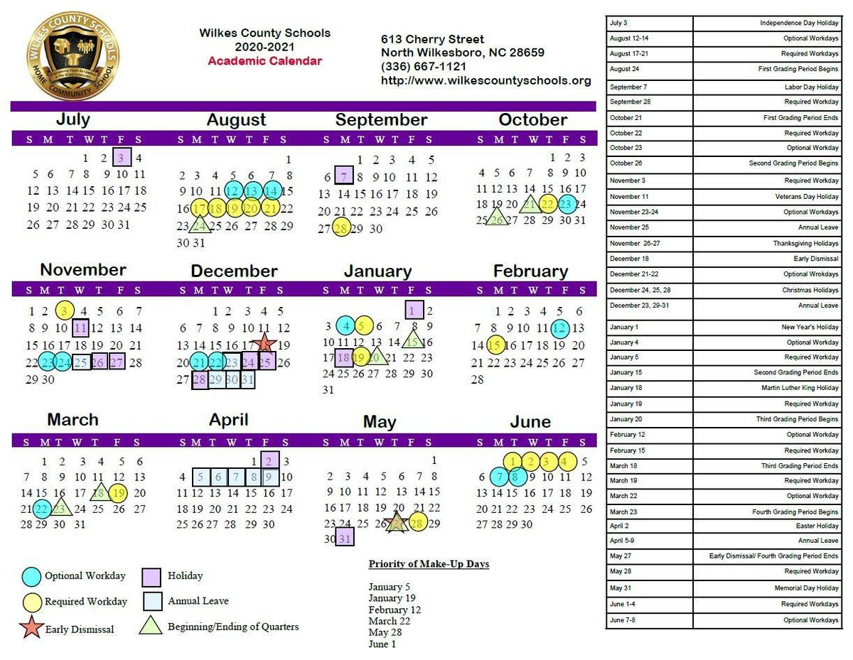 2020-2021 Regular Academic Calendar
