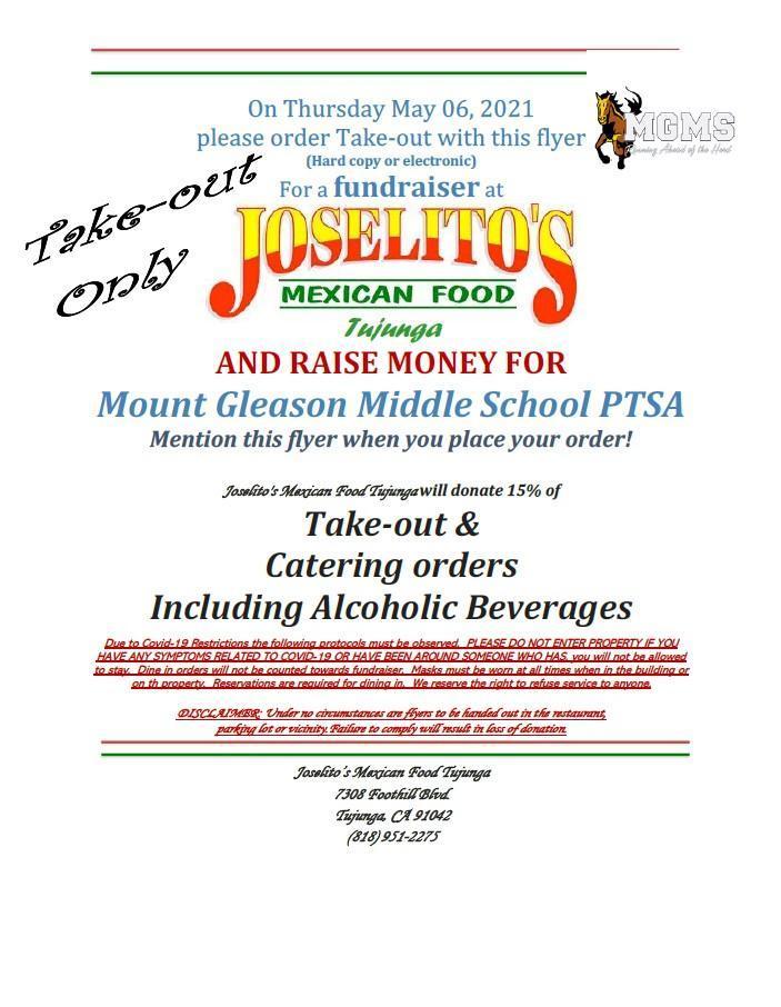 MGMS PTSA Fundraiser