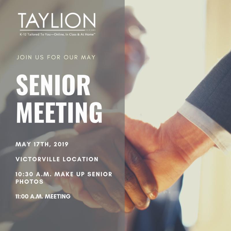 May Senior Meeting Flyer