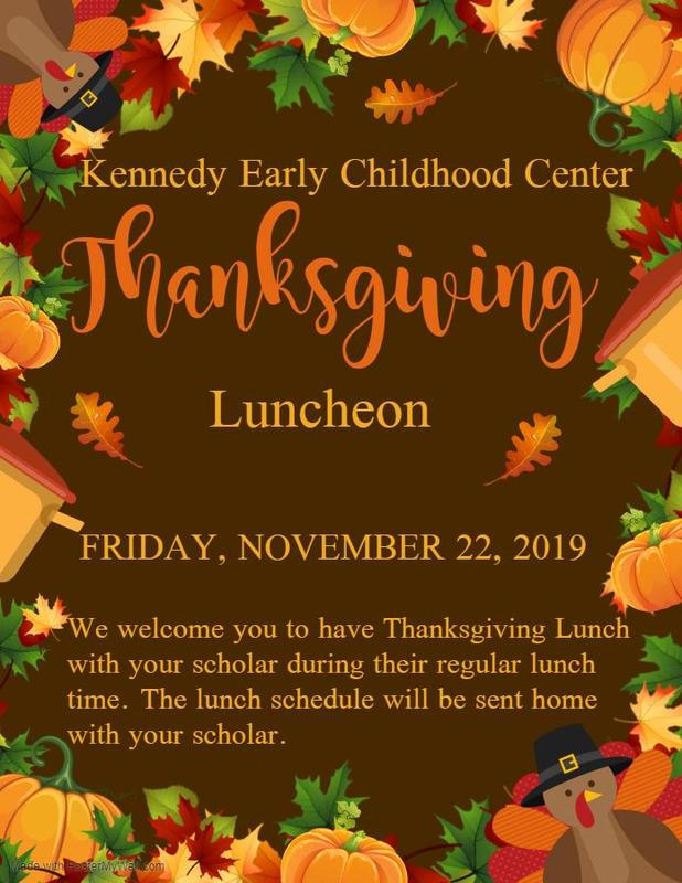 Kennedy Early Childhood Center Thanksgiving Luncheon 2019 #ItsComeBackTime