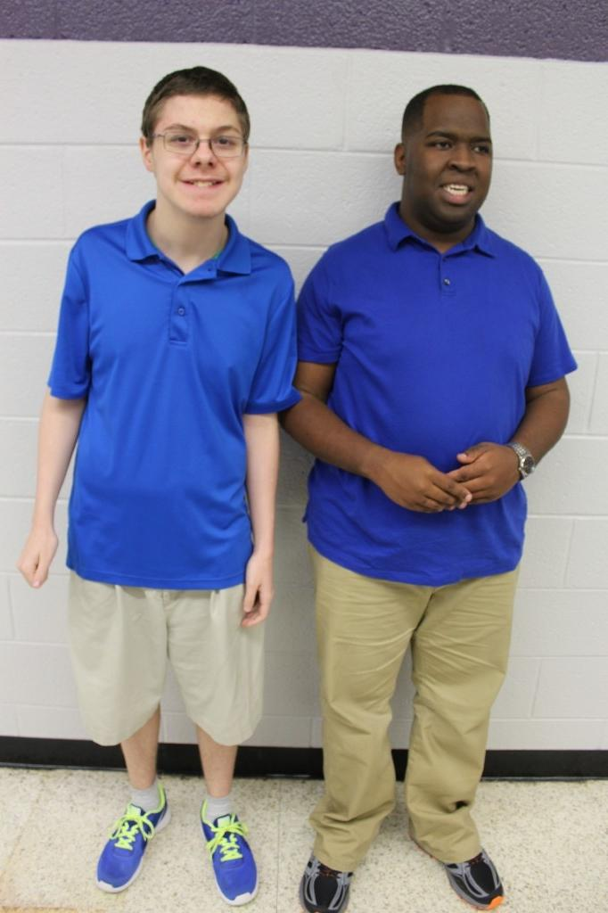 Twins Day Boys in Blue Shirts