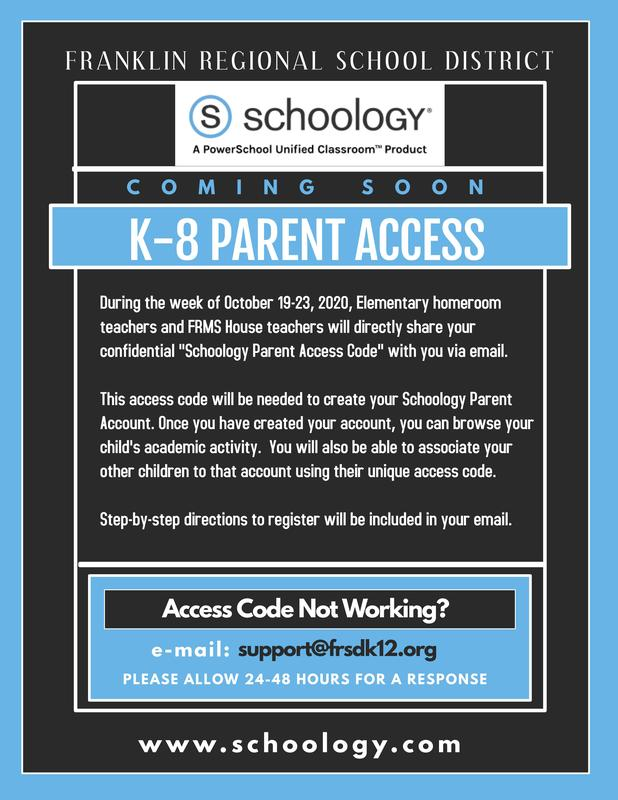 K-8 Parent Schoology Access