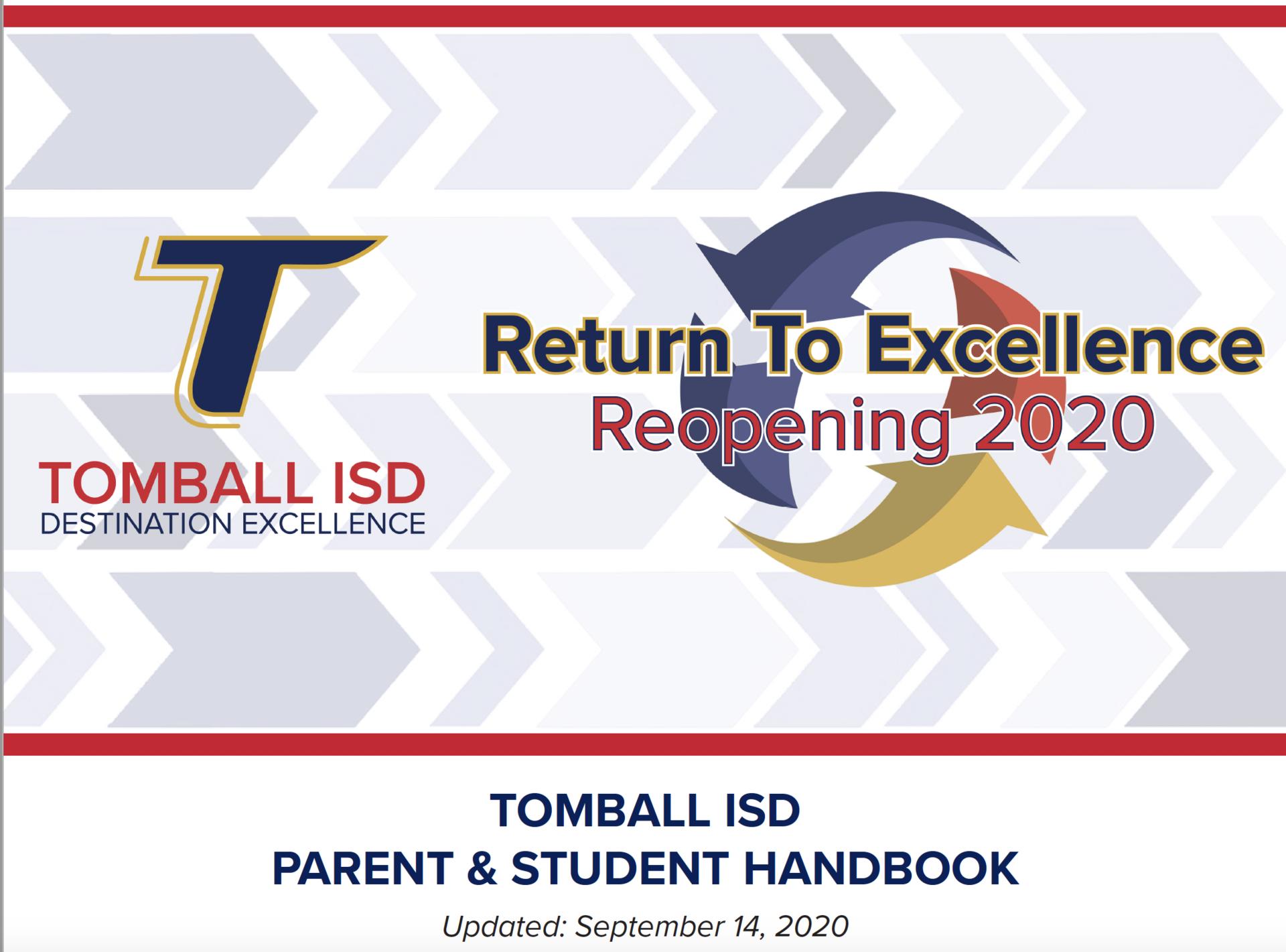 Student & Parent Handbook Cover