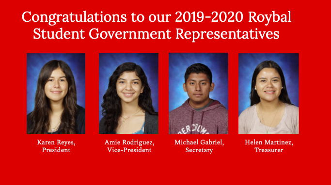 Congratulations to our 2019-2020 Roybal-elected student government representatives! Thumbnail Image