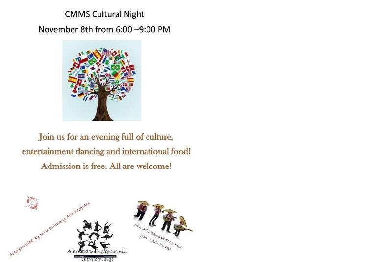 Cultural Night November 8th, 2018