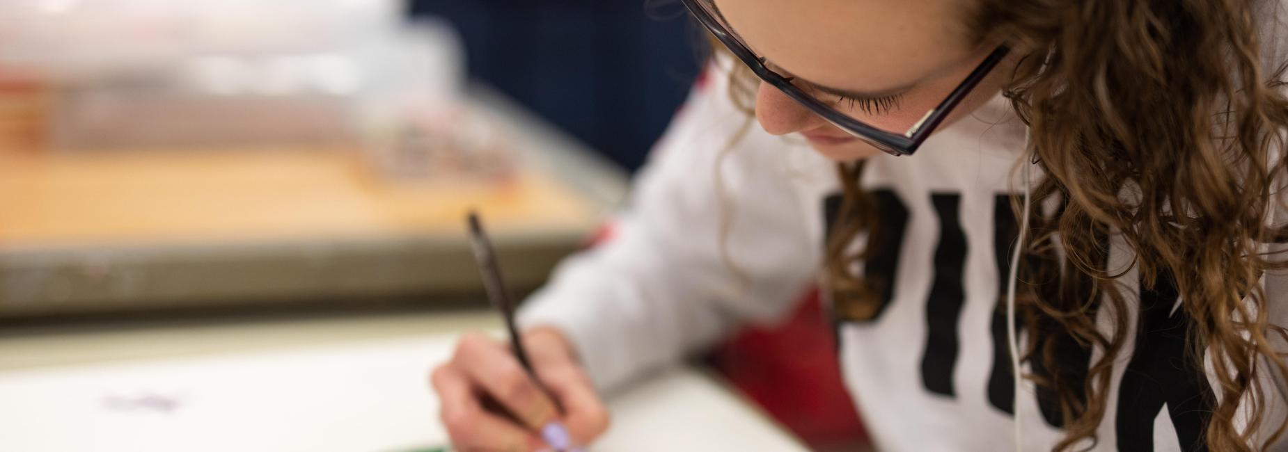 Secondary Art Student