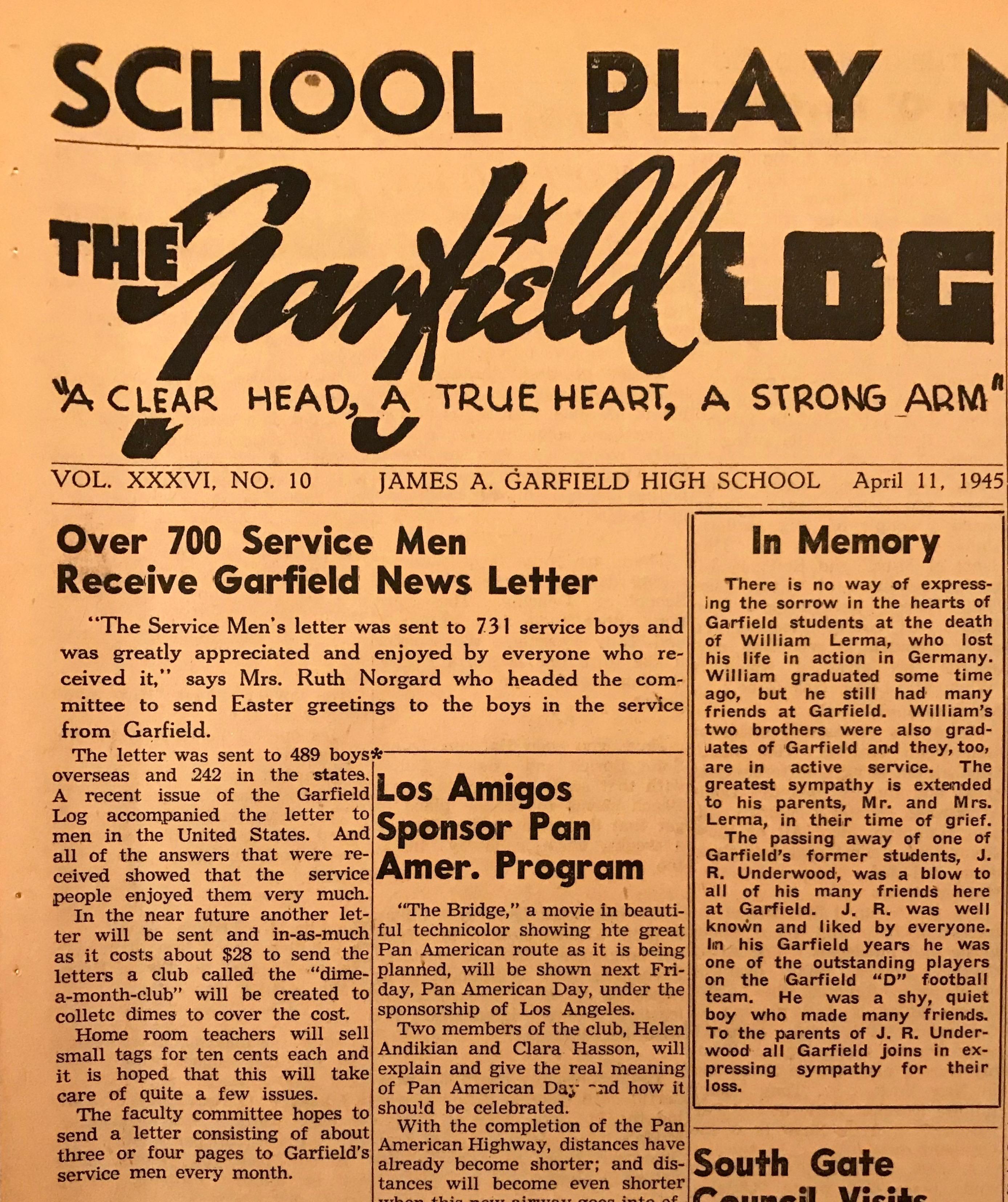 Service men receive Garfield News