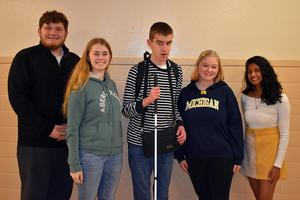 Mars Area High School students Zachary Ottenweller, Audrey Milk, Griffin Miller, Isabelle Spoores and Aria Ramanathan were selected to perform at the PMEA District Chorus Festival.