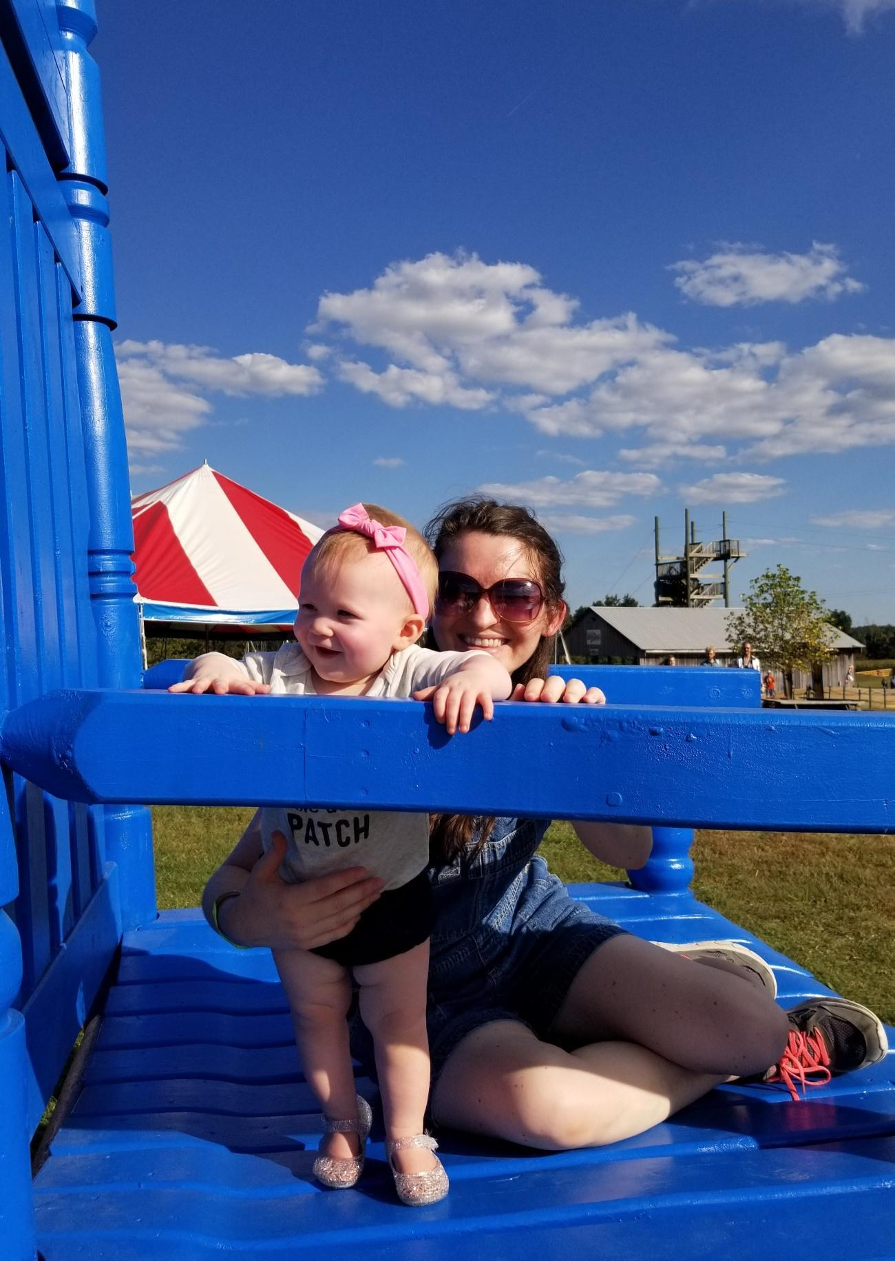 Ensley and I at Honeysuckle Hill Farm