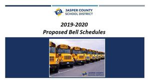 Survey: 2019-2020 Proposed Bell Schedules