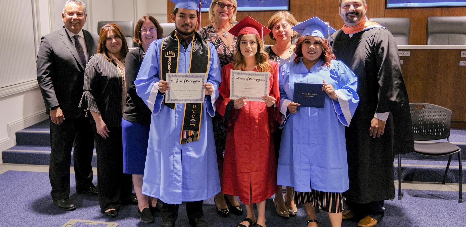 Superintendent Richard Martinez Congratulates PHS Graduate