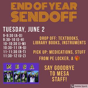 End of Year Sendoff Flyer