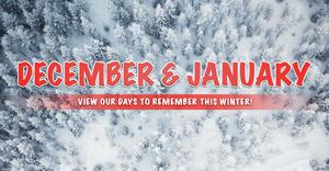 December 2019 & January 2020 Days to Remember