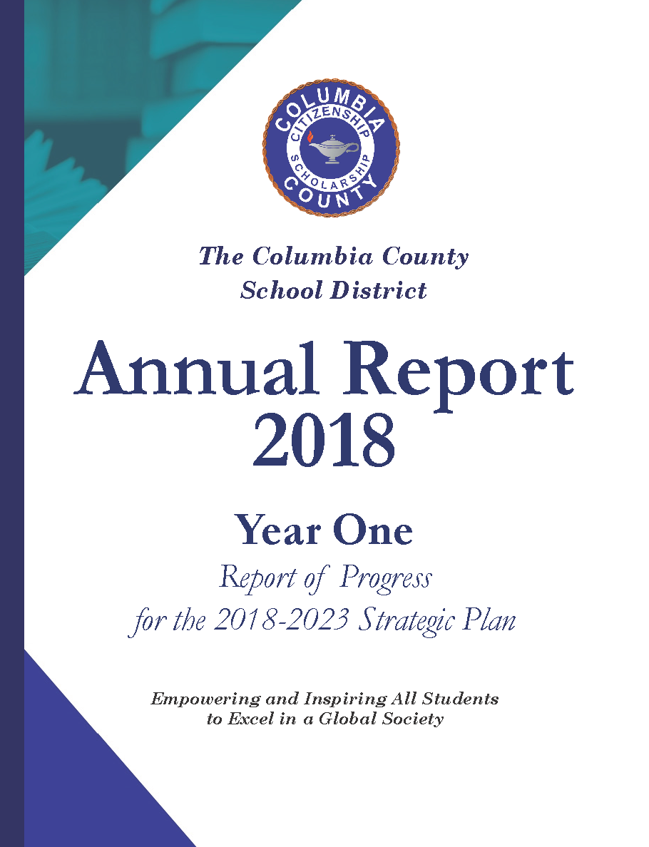 Cover page of the Columbia County School District annual report and strategic plan