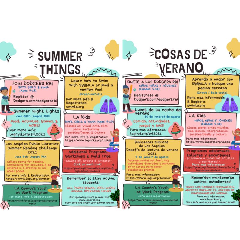 Actividades de Verano Summer Activities Thumbnail Image