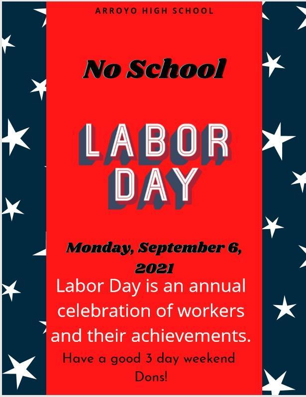 Labor Day - No School September 6, 2021 Featured Photo