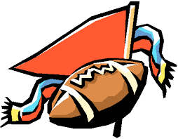 clipart of football and flags