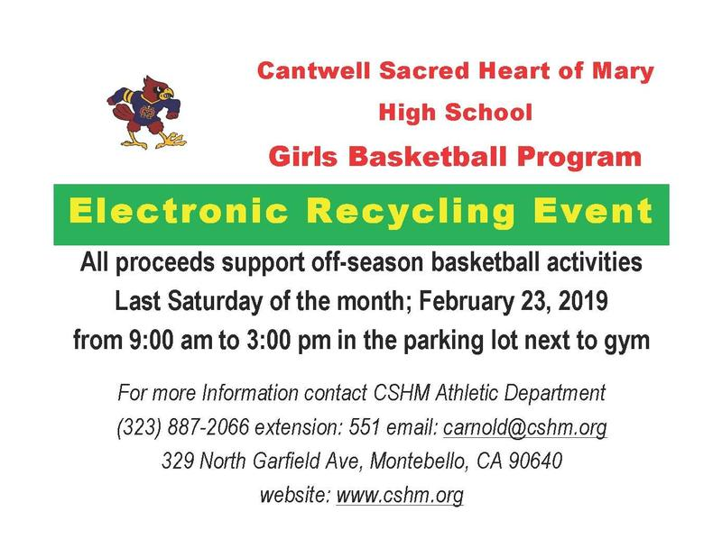 Electronic Recycling Event to Support Girls Basketball Thumbnail Image