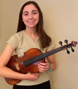 :  WHS 12th grade viola player Meredith Shepherd has been named to the New Jersey All-State Orchestra.  She will join @ 85 student musicians from around New Jersey who will perform in a virtual concert to be released in early December.