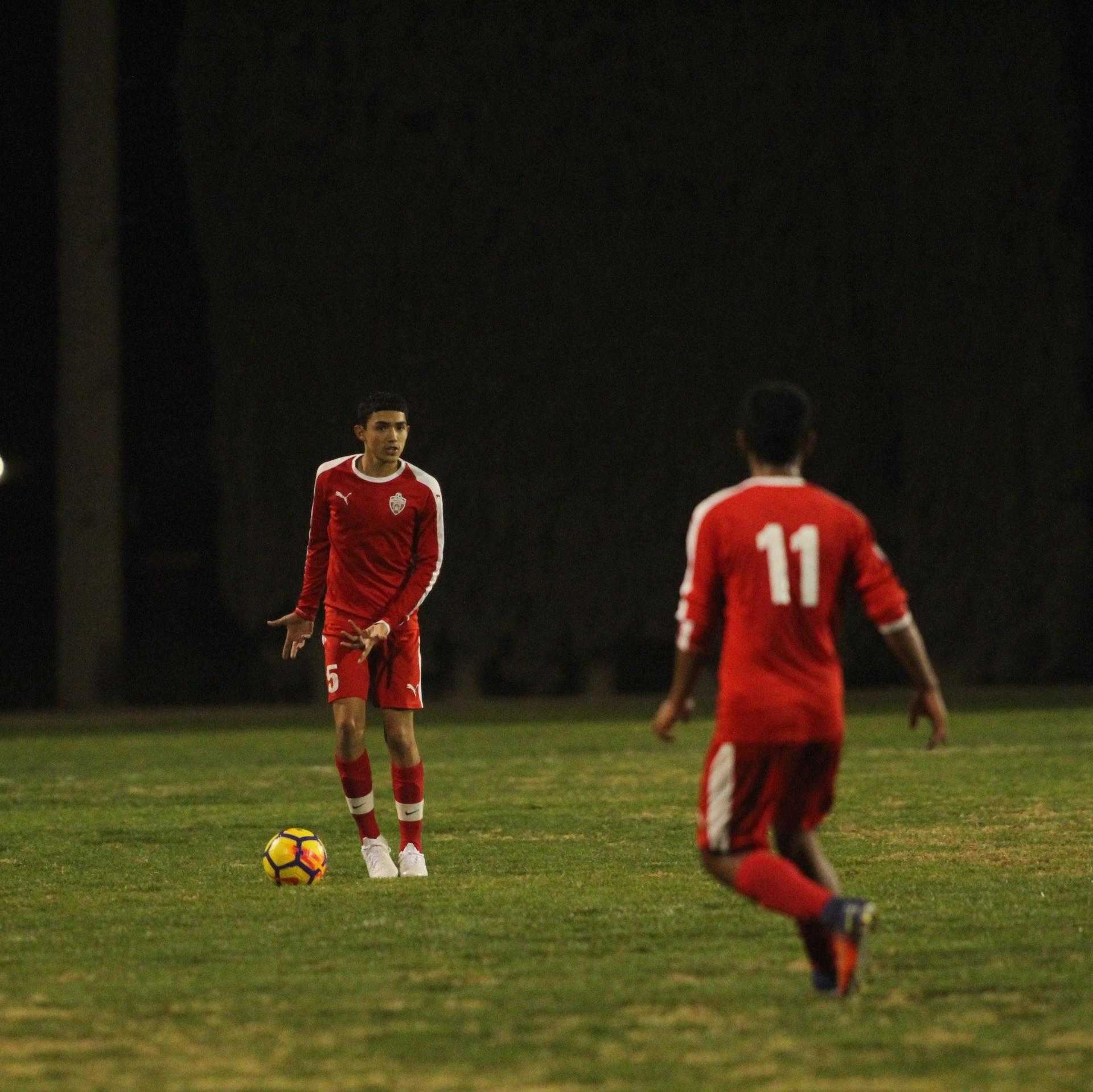 Edgar Campos with the ball