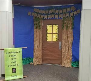 Library doors for book fair