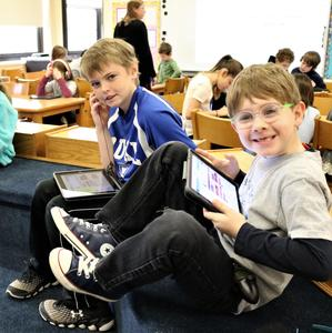 Students at Franklin School enjoys coding activities during Computer Science Education Week.