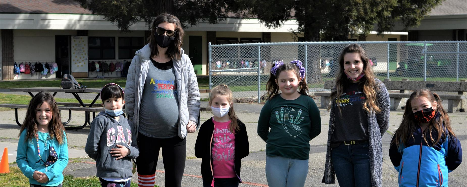 students and teachers dressed up for crazy sock day