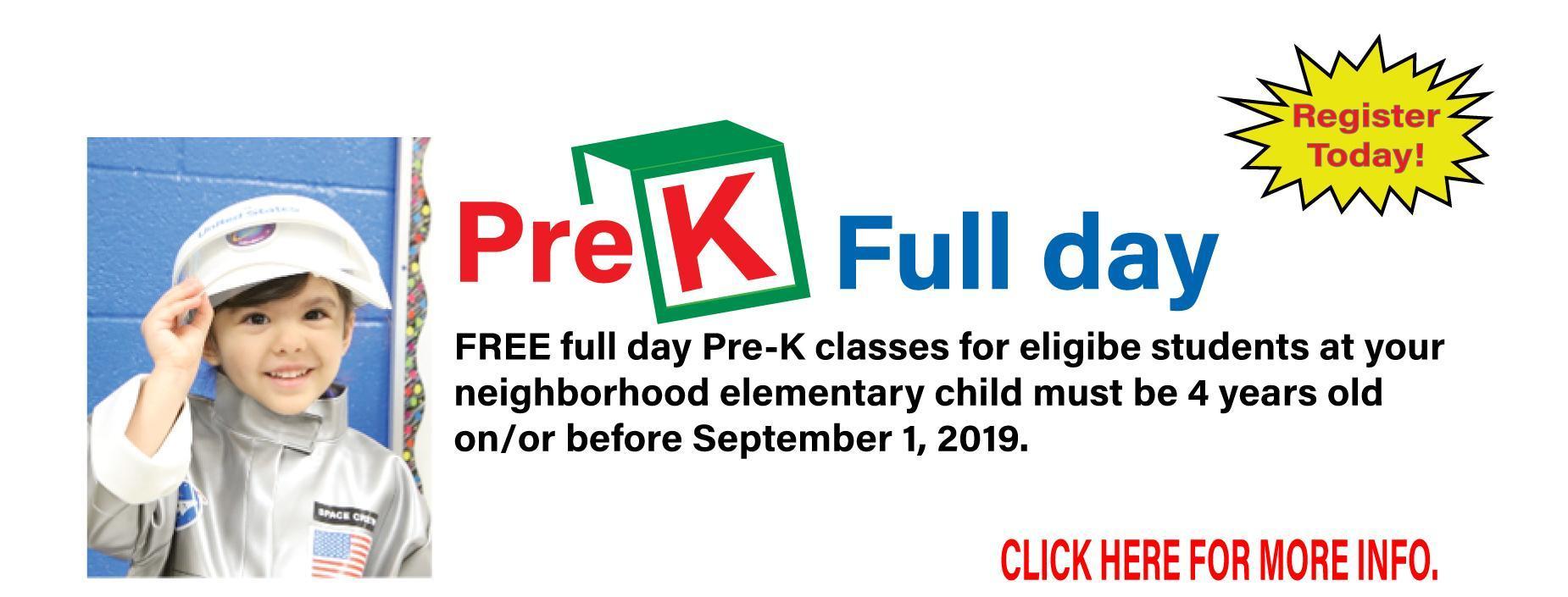 Pre-K Full day