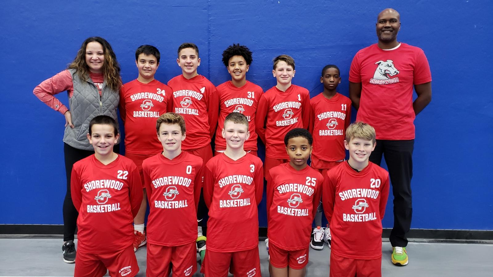 Jr. Greyhound 6th Grade team