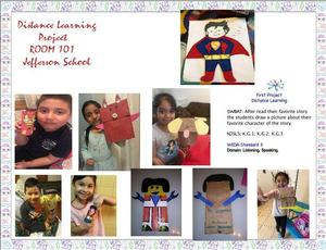 collage of kids showing off their finished products
