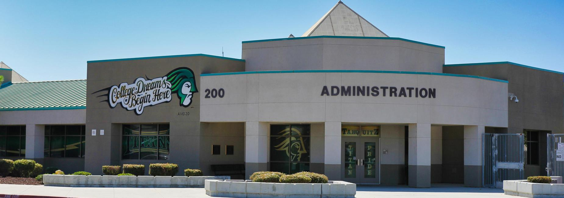 Tahquitz High school administration office