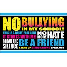 Bullying not in my school