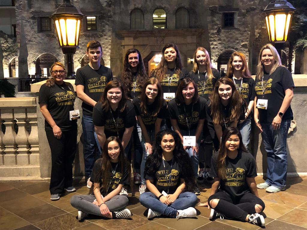 Students at National Beta Club Convention in Grapevine, TX
