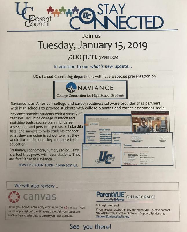 A SPECIAL PRESENTATION FOR UNION CATHOLIC PARENTS WILL HIGHLIGHT STAY CONNECTED FORUM ON JAN. 15 Thumbnail Image