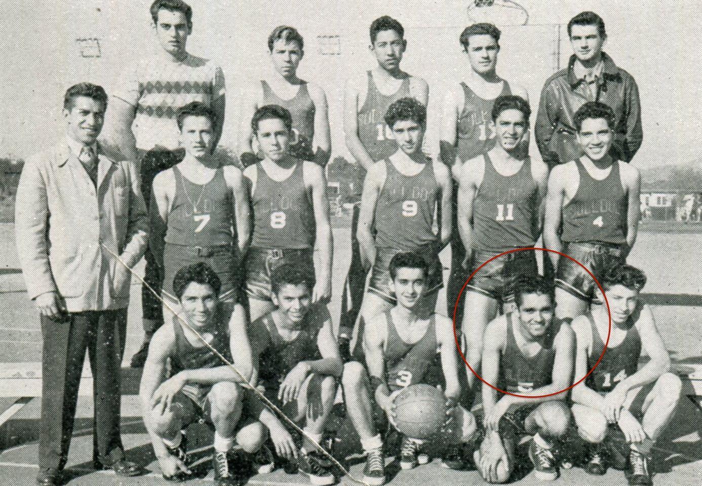 William Cruz, B Basketball, 1949