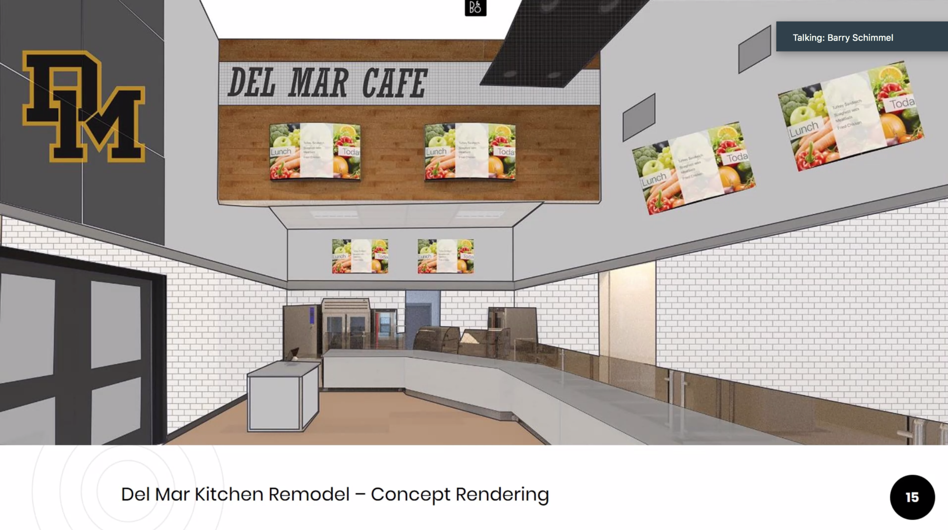 image of architect rendering of kitchen remodel