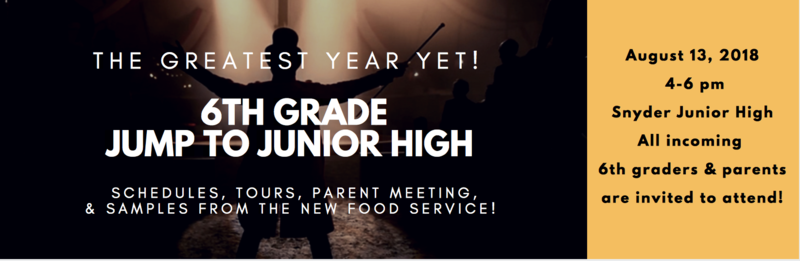 SJHS 6th Grade Jump To Junior High- August Featured Photo