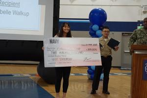 student board member receiving 200,000 dollar scholarship