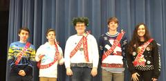 BUHS Student ugly Christmas sweater winners.
