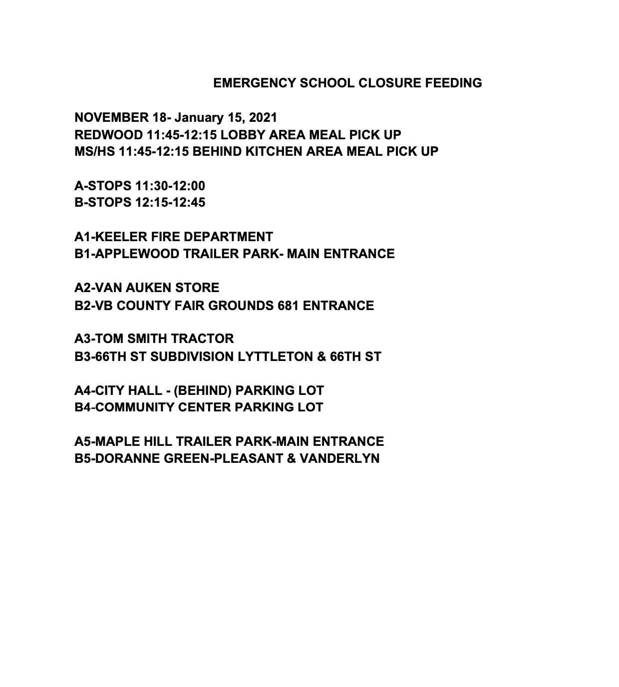 EMERGENCY SCHOOL CLOSURE FEEDING Image