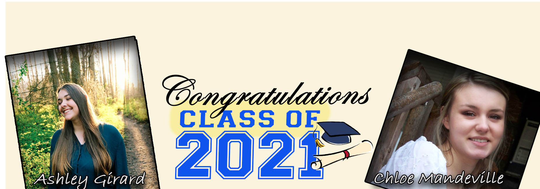 Class of 2021: A.Girard and C.Mandeville