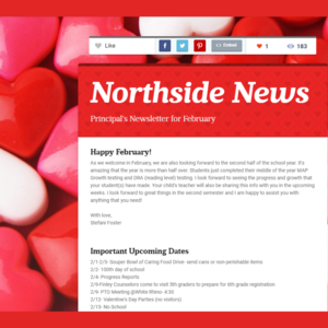 header of newsletter