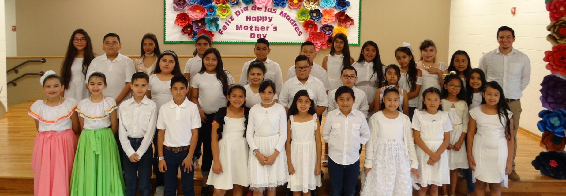 Choir group with Mr. Gonzalez