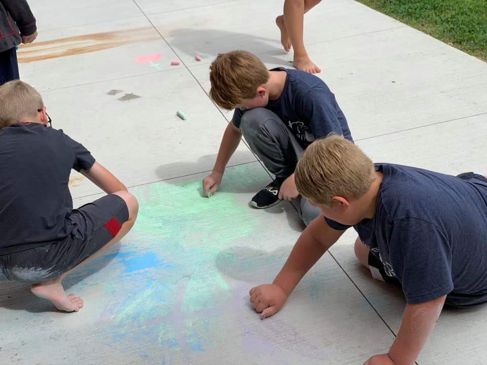 Coloring with chalk