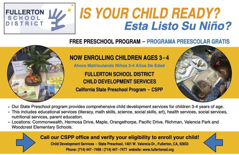 Free Preschool Program Flyer